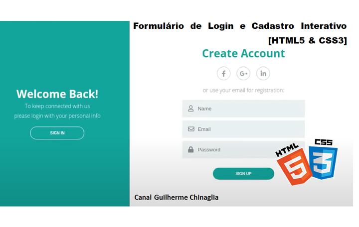 Formulário de Login e Cadastro Interativa [HTML5 & CSS3]